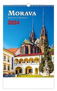 Morava 2020, nástěnný kalendář, prodloužená záda