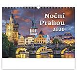 Noční Prahou 2020, nástěnný kalendář, prodloužená záda