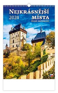 Nejkrásnější místa ČR 2020, nástěnný kalendář, prodloužená záda