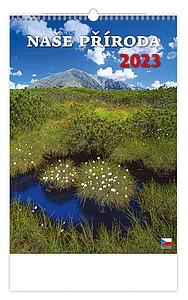 České hory 2020, nástěnný kalendář, prodloužená záda