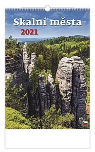 Skalní města 2020, nástěnný kalendář, prodloužená záda