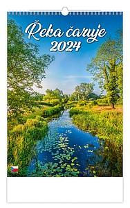 Řeka čaruje 2021, nástěnný kalendář, prodloužená záda