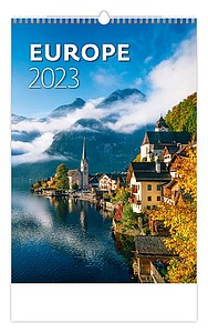 Cities of Europe 2021, nástěnný kalendář, prodloužená záda