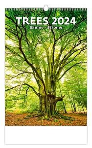 Stromy 2021, nástěnný kalendář, prodloužená záda