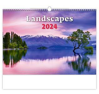 Landscapes 2021, nástěnný kalendář, prodloužená záda