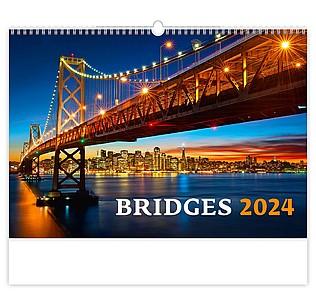 Bridges 2020, nástěnný kalendář, prodloužená záda