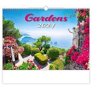 Gardens 2021, nástěnný kalendář, prodloužená záda