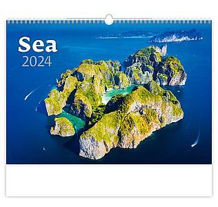 Sea 2021, nástěnný kalendář, prodloužená záda