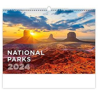 National Parks 2020, nástěnný kalendář, prodloužená záda