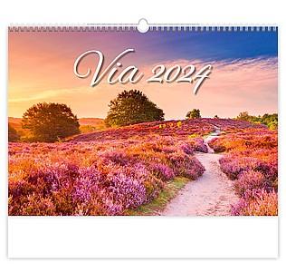 Via 2021, nástěnný kalendář, prodloužená záda