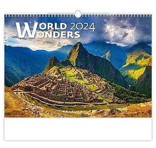 World Wonders 2021, nástěnný kalendář, prodloužená záda