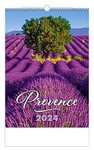 Provence 2020, nástěnný kalendář, prodloužená záda