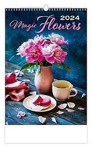 Živé květy 2021, nástěnný kalendář, prodloužená záda