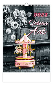 Colour Art 2021, nástěnný kalendář, prodloužená záda
