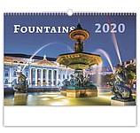 Fountains 2020, nástěnný kalendář, prodloužená záda