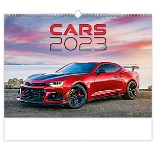 Cars 2020, nástěnný kalendář, prodloužená záda