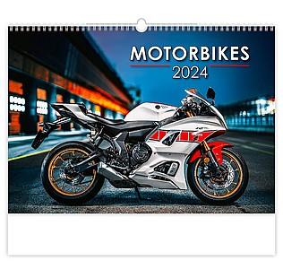 Motorbikes 2020, nástěnný kalendář, prodloužená záda
