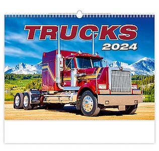Trucks 2021, nástěnný kalendář, prodloužená záda