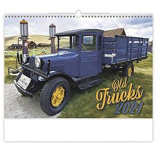 Old Trucks 2020, nástěnný kalendář, prodloužená záda