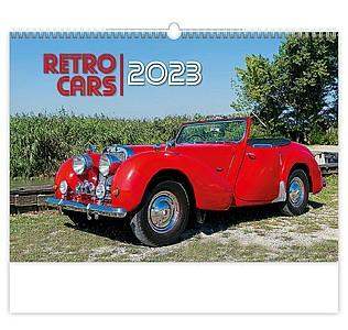 Retro Cars 2020, nástěnný kalendář, prodloužená záda
