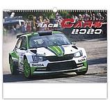 Race Cars 2020, nástěnný kalendář, prodloužená záda
