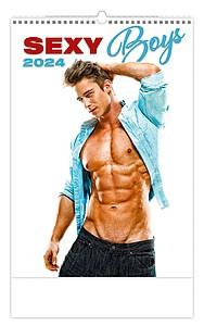 Sexy Boys 2020, nástěnný kalendář, prodloužená záda
