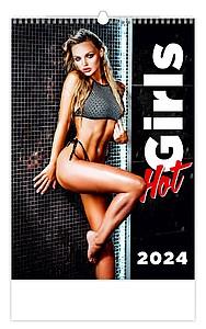 Hot Girls 2021, nástěnný kalendář, prodloužená záda