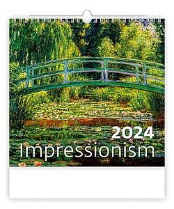 Les 2021, nástěnný kalendář, prodloužená záda