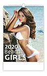 Beach Girls 2020, nástěnný kalendář, prodloužená záda