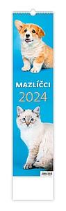 Mazlíčci 2020, nástěnný kalendář, prodloužená záda