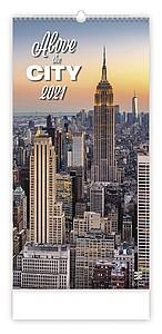 Above the City 2021 nástěnný kalendář, prodloužená záda