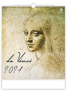Leonardo da Vinci 2021, nástěnný kalendář, prodloužená záda
