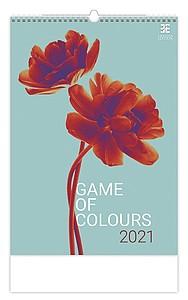 Game of Colours 2021, nástěnný kalendář, prodloužená záda