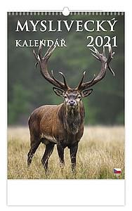 Myslivecký kalendář 2021, nástěnný kalendář, prodloužená záda