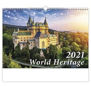 World Heritage 2021, nástěnný kalendář, prodloužená záda