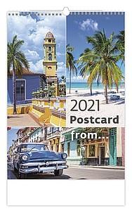 Postcard from… 2021, nástěnný kalendář, prodloužená záda