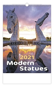 Modern Statues 2021, nástěnný kalendář, prodloužená záda