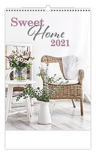 Sweet Home 2021, nástěnný kalendář, prodloužená záda