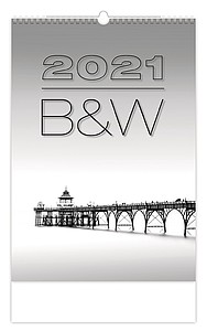B&W 2021, nástěnný kalendář, prodloužená záda