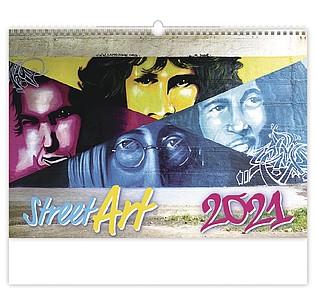 Street Art 2021, nástěnný kalendář, prodloužená záda