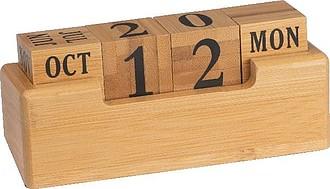 Stoloní kalendář z bambusu,béžová