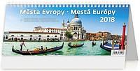 Města Evropy 2018, stolní kalendář