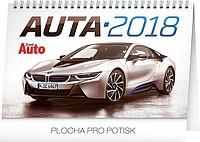 Auta, stolní kalendář 2018