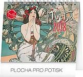 Alfons Mucha Praktik, stolní kalendář 2018