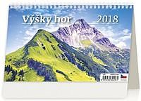 Výšky hor 2018, stolní kalendář