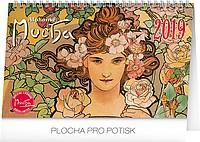 Alfons Mucha 2019, stolní kalendář