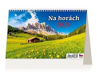 Výšky hor 2021, stolní kalendář