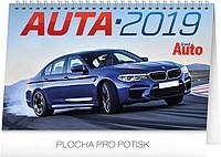 Auta 2019, stolní kalendář