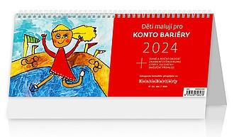 Děti malují pro Konto Bariéry 2022, stolní kalendář
