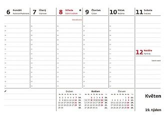 Pracovní kalendář 2021, stolní kalendář